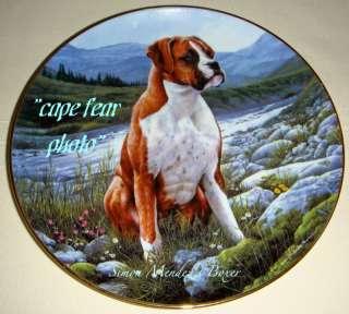 Simon Mendez BOXERS RIVERSIDE REST Dog Plate W/COA