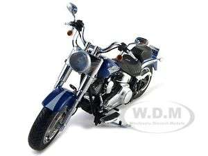 2009 HARLEY DAVIDSON FLSTF FAT BOY BLUE 1/12