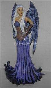 Limited Edition AMY BROWN BLUE ANGEL Statue NIB Fairy Faery Artist