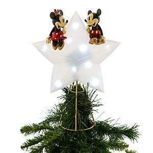DISNEY MICKEY & MINNIE LIGHT UP TREE TOPPER NEW HTF