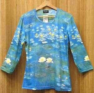 Monet Water Lilies Tee Shirt (Hand Silk Screened)
