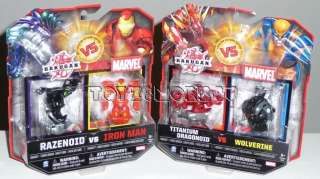 TITANIUM DRAGONOID VS WOLFERINE RAZENOID VS IRON MAN WW SHIP