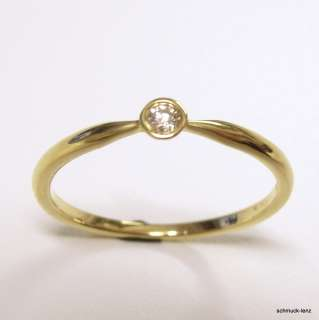 Goldring 585/14 Kt, 0,05 ct Diamant Brillant Gr 55 Ring