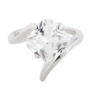 Custom 9ct Princess Cut CZ Solitaire Ring Size 6 7 8 9