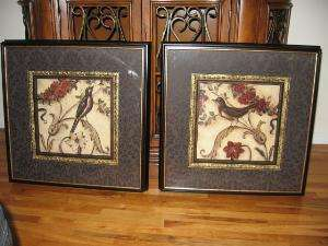 Set of 2 Songbirds Paintings Wall Decor Art in Motion