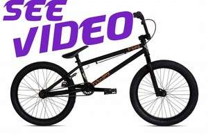 FICTION BMX Bike SAVAGE Black CroMo by STOLEN Bicycle Dirt Street