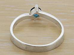 925 Sterling Silver Cute Blue CZ Ring Size 8.25 US