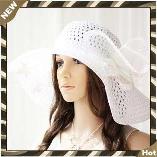 Brand New Wide Large Brim Summer Beach Sun Straw Wire Derby Hat