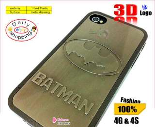 3D Strong Superman LOGO AVENGER Metal Skin Hard Case Cover f iPhone 4S