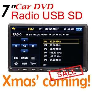 Anti shock 7 Touch Screen DVD/CD/ Car Player RDS Radio USB/SD Port