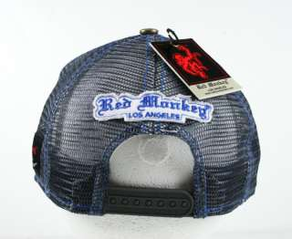 Red Monkey LOGO premium trucker cap hat Grey black or white Limited