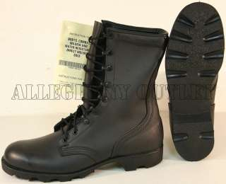 US Army FULL LEATHER Speedlace PANAMA SOLE Combat Boots NIB Made in