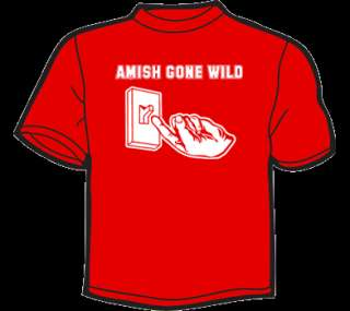 AMISH GONE WILD T Shirt MENS funny vintage retro 80s