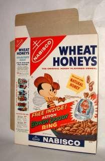 1950s HOWDY DOODY NABISCO WHEAT HONEYS CEREAL PROMO BOX NEAR MINT