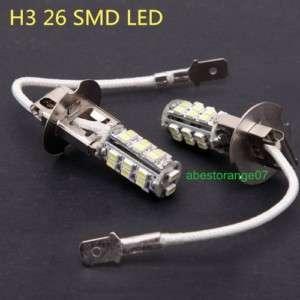 H3 SMD 26 LED White Headlight Bulb Head Light 12V 3W