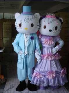 HELLO KITTY AND Daniel Star CAT CARTOON MASCOT COSTUMES