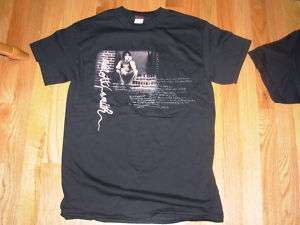 ELLIOTT SMITH Black Portrait signature Shirt many size