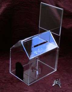 Acrylic Dog House Donation/Collection/Charity/ Box