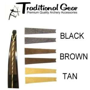 RECURVE BOW LIMB STRING GROOVE SILENCERS BROWN Archery