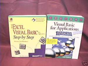 USED BOOKS MICROSOFT EXCEL VISUAL BASIC APPLICATIONS