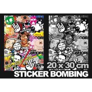STICKER BOMB FOLIE   20 x 30cm   Sticker Bombing decal sticker