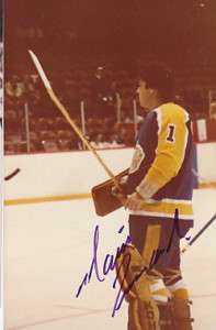 Mario Lessard Los Angeles Kings Auto Signed 3x5