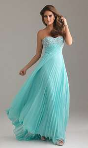 Pleated Chiffon Beaded Junior Prom Dress Sweet 16 Party Gown Dresses