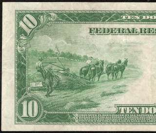 10 DOLLAR BILL FEDERAL RESERVE NOTE Fr 919A OLD PAPER MONEY