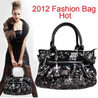 New Fashion Pattern Soft Patent Leather High Quality Handbag Tote