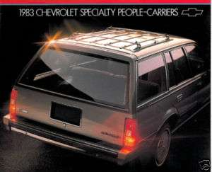 1983 CHEVROLET CAPRICE CAVALIER MALIBU WAGON BROCHURE