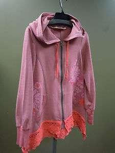 Aunt Wanda Pink Flower Graphic Hoodie Ivy Jane Uncle Frank Spring lace