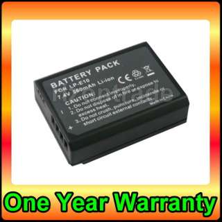 Battery for Canon LP E10 LPE10 EOS REBEL T3 EOS 1100D EOS KISS X50