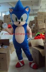 Professional Sonic Hedgehog Mascot Costume Adult Suit