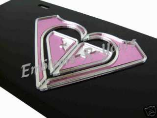 Roxy Pink Front License Plate Tag