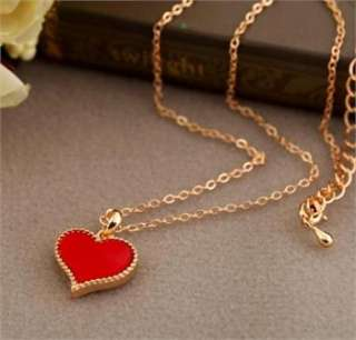 Same Style Three Color Love Heart Necklace Clavicle Chain New
