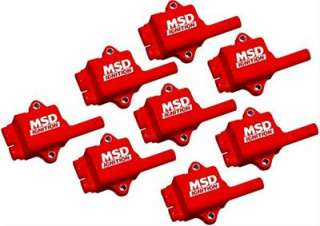 MSD Ignition Coils MSC II Coil Pack Square Epoxy Red Chevy GMC SUV Set