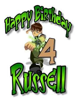 BEN 10 TEN Personalized Birthday T Shirt Any Size