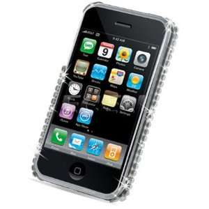 WHITE CRYSTAL DIAMOND BLING CASE FOR IPHONE 3G 3GS Electronics