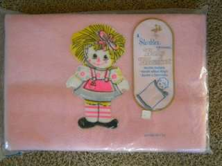 Vtg NEW Storktex Original Pink Raggedy Ann Baby Girl Blanket Nursery