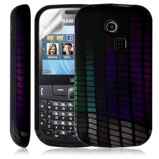 Housse coque étui gel pour Samsung Chat 335 S3350 avec motif