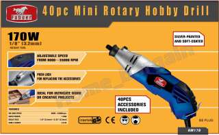 PC MINI ROTARY VARIABLE SPEED HOBBY DRILL TOOL KIT DREMEL STYLE 170W