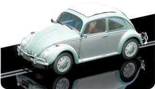 SCALEXTRIC Slot Car C3204 VW Beetle 1963 pale blue/white