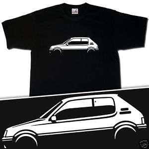 RETRO BLACK PEUGEOT 205 GTI INSPIRED T SHIRT S XXXL