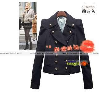 Femme Trench Court Double Boutonnage Manteau Veste Coat Jacket