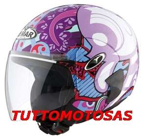VEMAR CASCO HELMET JET POWERPUFF GIRLS WHITE FUXIA