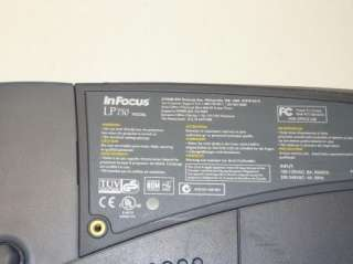 InFocus Model LP750 Home Theater LCD Projector