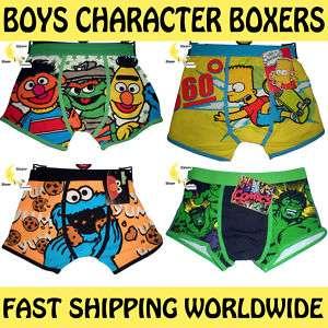 Boys Boxers Sesame Street Simpsons Cookie Monster Hulk