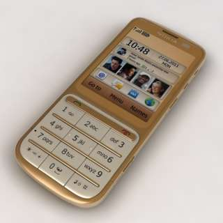LATEST Nokia C3 01 GOLD Touch and Type Unlocked Mobile Phone C301 Sim