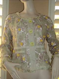 Marc Jacobs Lace embroidered ribbon jacket ( Size 12)