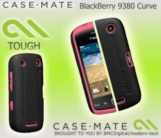 NEW CASE MATE PINK & BLACK TOUGH HARD CASE FOR BLACKBERRY 9380 CURVE